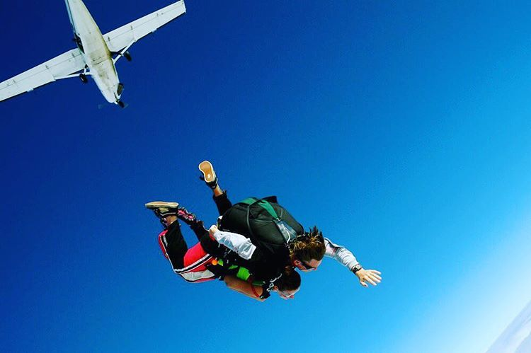 The thrill is incredible skydiving
