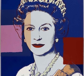 Andy-Warhol-Queen-Elizabeth-II-102-x-82cm-unique-silkscreen-very-small