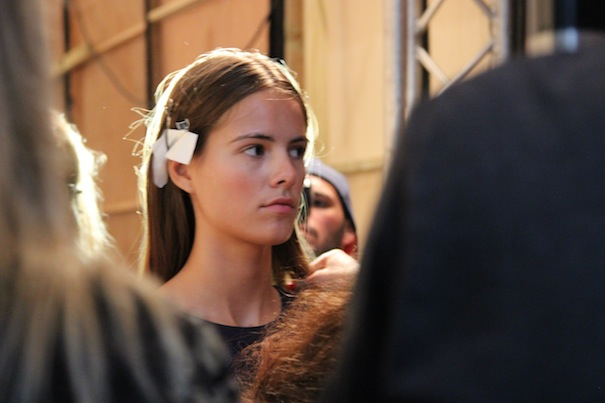 backstage london fashion week 2013