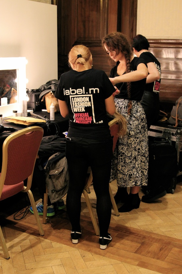 london fashon week backstage