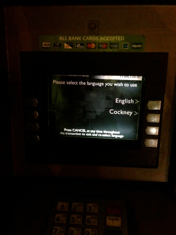 cockney cash machines