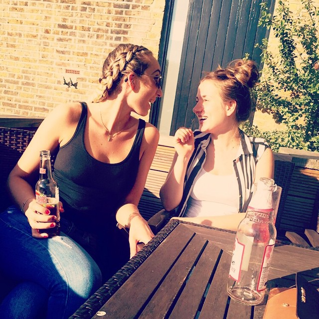 Enjoying the sunshine with my love summer babysister